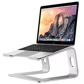 cheap Stands & Cooling Pads-Laptop Stand Holder Aluminum Stand For MacBook Portable Laptop Stand Holder Desktop Holder Notebook PC Computer Stand
