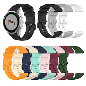 cheap Smartwatch Bands-18mm Watchband Wriststrap With Small Plaid for Garmin Vivoactive 4S/Vivomove 3S