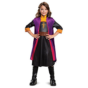 cheap Movie & TV Theme Costumes-Princess Anna Dress Flower Girl Dress Girls' Movie Cosplay A-Line Slip Purple Dress Children's Day Masquerade Polyester