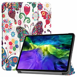 cheap iPad case-Case For Pro 11''(2020) / iPad 10.2''(2019) / Ipad air3 10.5'(2019) Shockproof / with Stand / Flip Full Body Cases Butterfly PU Leather Case For iPad (2017) / iPad Mini 5/4 iPad (2018) / iPad Air2