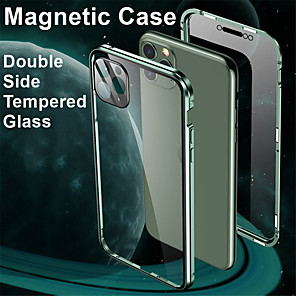 cheap iPhone Cases-Magnetic Adsorption Tempered Glass Metal Case For Iphone SE 2020 / X / XS / XR / XS MAX / 8 / 8 Plus / 7 / 7Plus Coque 360 Protective Cases For Iphone 11 Pro Max / 11 / 11 Pro