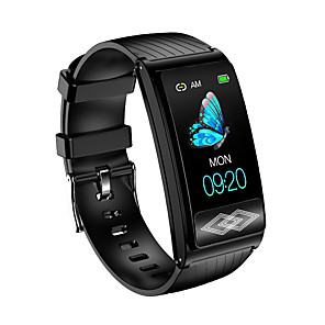 cheap Smart Wristbands-KUPENG P10X Unisex Smartwatch Smart Wristbands Android iOS Bluetooth Waterproof Blood Pressure Measurement Sports Exercise Record Information ECG+PPG Pedometer Call Reminder Activity Tracker Sleep