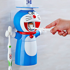 cheap Bathroom Gadgets-Punch-free Creative Cartoon Cute Wash Set Children Automatic Toothpaste Toothpaste Squeezer Toothbrush Holder