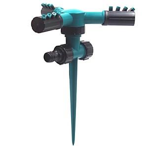 cheap Sprayer Guns-Plastic 360-degree Automatic Rotating Tandem Pin Sprinkler Garden Watering Sprinkler Cross-border Hot Product Factory Direct Sales