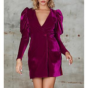 cheap Women's Boots-Womens Blazers Long Sleeve Velet Prom Vintage Dresses MM0221