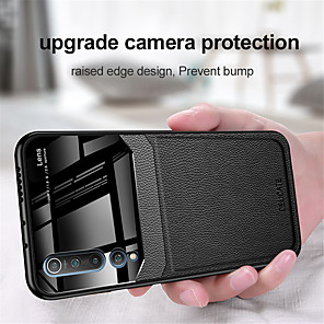 cheap Xiaomi Case-Case For Xiaomi Xiaomi Mi 10 / Xiaomi Mi 10Pro Embossed Back Cover Solid Colored PU Leather / TPU