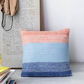 cheap Pillow Covers-1 pcs Polyester Pillow Cover, Color Block Leisure Square Traditional Classic