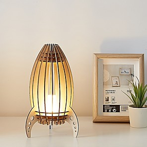 cheap Table Lamps-Table Lamp Creative / Decorative Modern Contemporary LED power supply For Bedroom <36V Wood