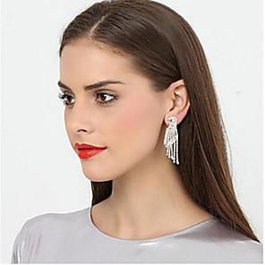 cheap Earrings-Metalic Earring with Rhinestone 1 Pair Wedding / Daily Wear Headpiece