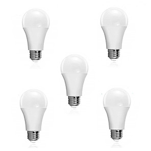 cheap LED Smart Bulbs-5pcs 5 W LED Smart Bulbs 300 lm E26 / E27 15 LED Beads SMD 2835 Sensor Smart Decorative White 180-240 V / RoHS