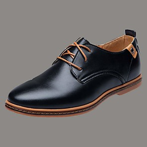 cheap Car DVD Players-Men's Derby Shoes Spring / Summer / Fall Vintage / British Daily Outdoor Office & Career Oxfords Golf Shoes PU Non-slipping Wear Proof Booties / Ankle Boots Yellow / Black / Dark Blue