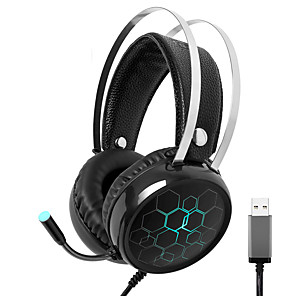 cheap Gaming Headsets-X1 Gaming Headset Surround Sound USB Wired Gamer Earphones