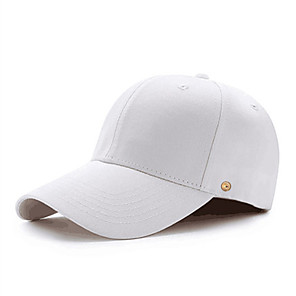 cheap CCTV Cameras-Men's Sun Hat PU Cotton Basic - Solid Colored All Seasons White Black Red
