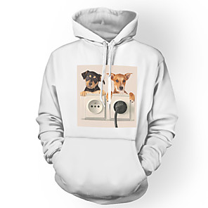 cheap Framed Arts-Inspired by Cosplay Pet Cosplay Costume Hoodie Polyster Print Printing Hoodie For Men's / Women's