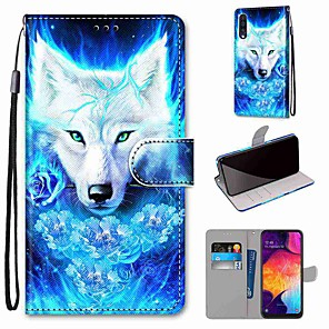 cheap Samsung Case-Case For Samsung Galaxy S20 / S20 Plus / S20 Ultra Wallet / Card Holder / with Stand Rose Wolf PU Leather / TPU for A51 / A71 / A81 / A91 / A01 / A21 / A50(2019) / A30s(2019) / A30(2019)