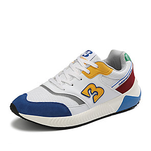 cheap Women's Heels-Women's Athletic Shoes Flat Heel Round Toe PU Sporty Running Shoes Spring & Summer White / Blue / Army Green / Orange / Color Block