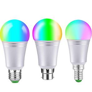 cheap LED Smart Bulbs-1pc 9 W LED Smart Bulbs 650 lm E14 B22 E27 22 LED Beads SMD 5050
