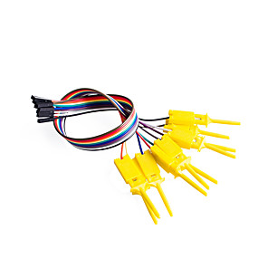 cheap DIY Kits-10pin Jumper/Dupont Cable Female  Test Clip Separable 20cm IC Hook Probe