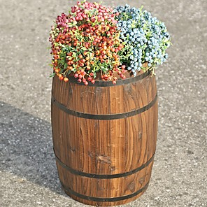 cheap Cell Phones-Gardening Carbonized Anticorrosive Solid Wood Beer Barrel Flower Pot Bar Wine Cabinet Decoration Barrel Exhibition Furnishings Wedding Props