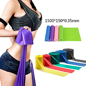 cheap Fitness Gear & Accessories-Exercise Resistance Bands 1 pcs Sports TPE Home Workout Gym Yoga Odor Free Eco-friendly Non Toxic High Elasticity Strength Training Physical Therapy Leg Shaping For Men Women Waist & Back Leg Abdomen