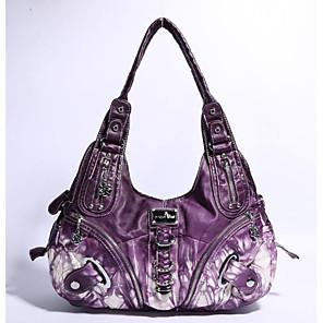 cheap Handbag & Totes-Women's PU Crossbody Bag 2020 Solid Color Purple / Blushing Pink / Red