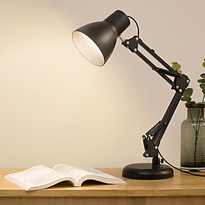 cheap Desk Lamps-Desk Lamp Adjustable / Ambient Lamps Modern Contemporary / Traditional / Classic LED power supply For Study Room / Office / Office 220V Black