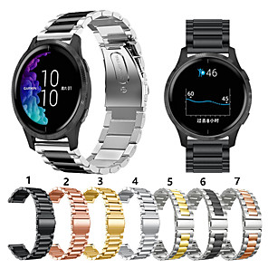 cheap Smartwatch Screen Protectors-For Garmin vivoactive 4 Metal Smart Watch Band Strap Stainless Steel