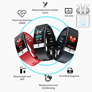 cheap Smartwatches-E66 Smartwatch Support Temperature/ ECG+PPG Measurement, Bluetooth Fitness Equipment for IOS/ Android Phones with TWS Headphones
