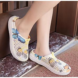 cheap Women's Sandals-Women's Sandals Flat Sandal Summer Flat Heel Round Toe Daily PU Purple / Yellow / Pink
