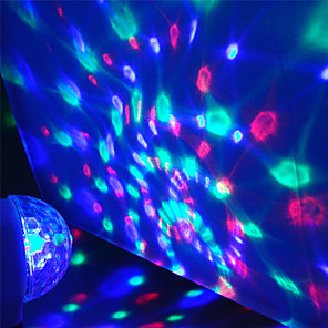 cheap Stage Lights-1X Mini USB Disco Light LED Party Lights Portable Crystal Magic Ball Colorful Effect Stage Lamp For Home Party Karaoke Decor (send random body color)