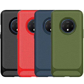 cheap Other Phone Case-Case For OnePlus Oneplus 7 /7 Pro/ 7T / 7T Pro / 6T Shockproof Back Cover Solid Colored Carbon Fiber