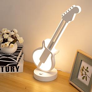 رخيصةأون أباجورات-مصباح الطاولة ديكور حديث تزويد القوة LED من أجل غرفة دراسة / مكتب / متاجر / مقاهي معدن 110-120V / 220-240V أبيض