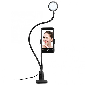 cheap Phone Mounts & Holders-LED Brightness Tattoo Light TikTok Youtube Video Broadcast Live Light Self-Timer Ring Lamp Dimmable Adjustable Enhanced Fill Light Clip-type Folding