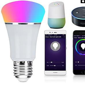 cheap Home Supplies-1pc 7 W LED Smart Bulbs 600 lm E14 B22 E26 22 LED Beads SMD 5050 RGB