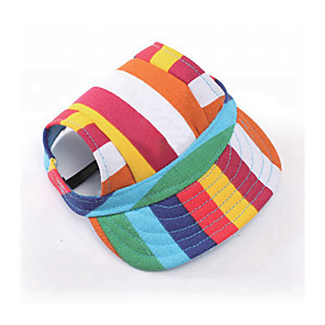 cheap Dog Collars, Harnesses & Leashes-Dog Cat Pets Hats, Caps & Bandanas Bandanas & Hats Sport Hat Color Block Cartoon Slogan Sports & Outdoors Fashion Dog Clothes Camouflage Color White / Black Black Costume Oxford Cloth Fabric Canvas S