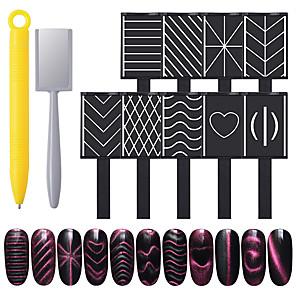 cheap Dotting Tools-11pcs Metal Nail Art Accessories Multi-Type Durable Trendy Fashion Daily UV Gel for Finger Nail Toe Nail