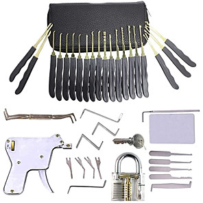 cheap Tool Sets-30-Piece Practice Padlock Tool Set with Professional Locksmiths Gift for Kids