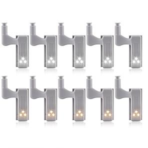 رخيصةأون أباجورات-10pcs 3 W 1200 lm 3 الخرز LED جميل إبداعي سهولة التثبيت أضواء تحت مقصورة إضواء الخزن LED أبيض دافئ أبيض 12 V خزانة المنزل / مكتب غرف الأطفال