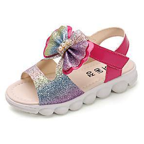 cheap Kids' Sandals-Girls' Sandals Comfort PU Little Kids(4-7ys) / Big Kids(7years +) White / Red / Pink Summer