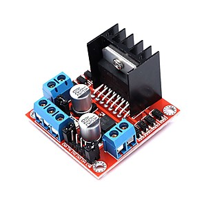 cheap Motherboards-L298N Dual H Bridge DC Stepper Motor Drive Controller Board Module 5V-35V