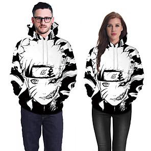 cheap Everyday Cosplay Anime Hoodies & T-Shirts-Inspired by Naruto Naruto Uzumaki Cosplay Costume Hoodie Pure Cotton Print Printing Hoodie For Men's / Women's