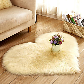 cheap 3D Duvet Covers-Baby room faux wool fur rugs love rugs sheepskin synthetic wool fluffy rugs smooth fur rugs in bedrooms and living rooms