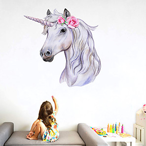 cheap Wall Stickers-Landscape / Animals Wall Stickers Animal Wall Stickers Decorative Wall Stickers, PVC Home Decoration Wall Decal Wall / Fridge Decoration 1pc