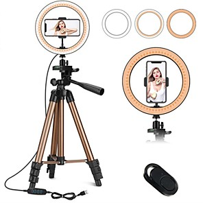 cheap Ring light-7.87inch(20cm) Selfie Ring Light Night Light Tiktok Light Youtube Video Color-Changing / Dimmable / Adjustable Selfie Light Remote Control 2pcs