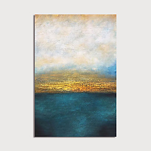 cheap Floral/Botanical Paintings-Hand Painted Canvas Oilpainting Abstract Home Decoration with Frame Painting Ready to Hang