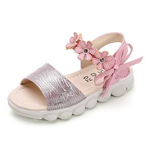 cheap Wedding Wraps-Girls' Sandals Comfort PU Little Kids(4-7ys) / Big Kids(7years +) White / Pink Summer