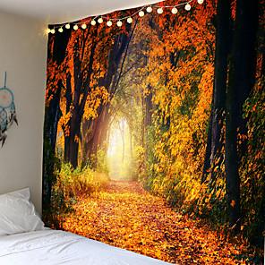 cheap Wall Stickers-Mooie Natuurlijke Bos Gedrukt Grote Wandtapijten Goedkope Hippie Muur Opknoping Bohemian Wandtapijten Mandala Muur Art Decor