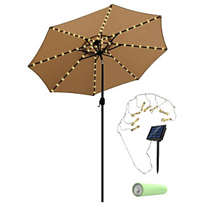 cheap CCTV Cameras-5m 20 LED Festoon Solar Power Umbrella String Lights Outdoor Waterproof Garden Lawn Lamp Carriage Lantern Umbrella Lights with Lithium Battery