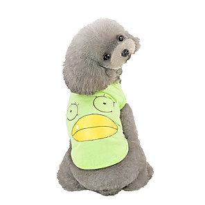 cheap Dog Clothes-Dog Vest Character Casual / Daily Dog Clothes Pink Green Gray Costume Cotton S M L XL XXL