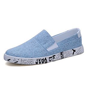 cheap Men's Slip-ons & Loafers-Men's Canvas Summer / Spring & Summer Casual Loafers & Slip-Ons Running Shoes / Walking Shoes Breathable White / Black / Light Blue